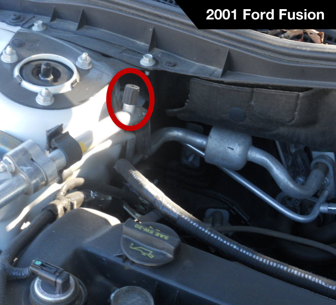 2001 Ford Fusion Low Pressure A/C Service Port