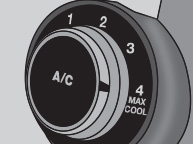 set a/c to max cool