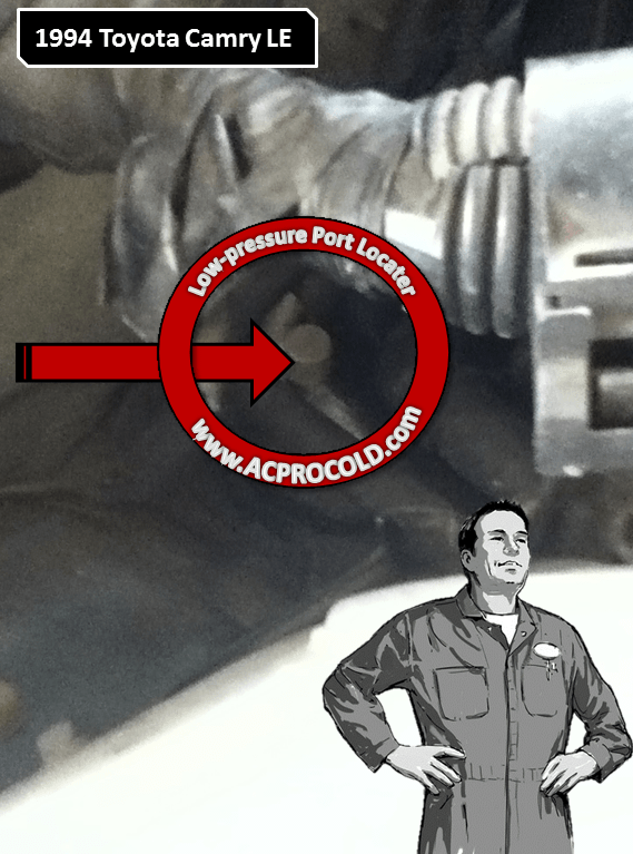 1994 Toyota Camry LE Low Pressure A/C Service Port