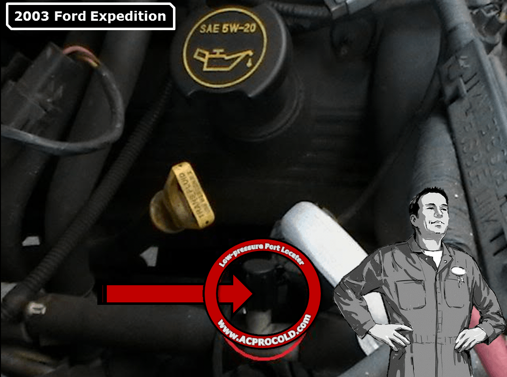 2003 Ford Expedition Low Pressure A/C Service Port