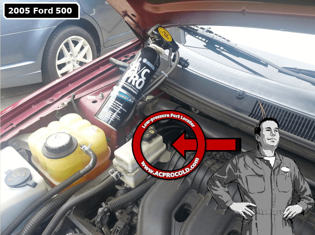 2005 Ford 500 Low Pressure Service Port