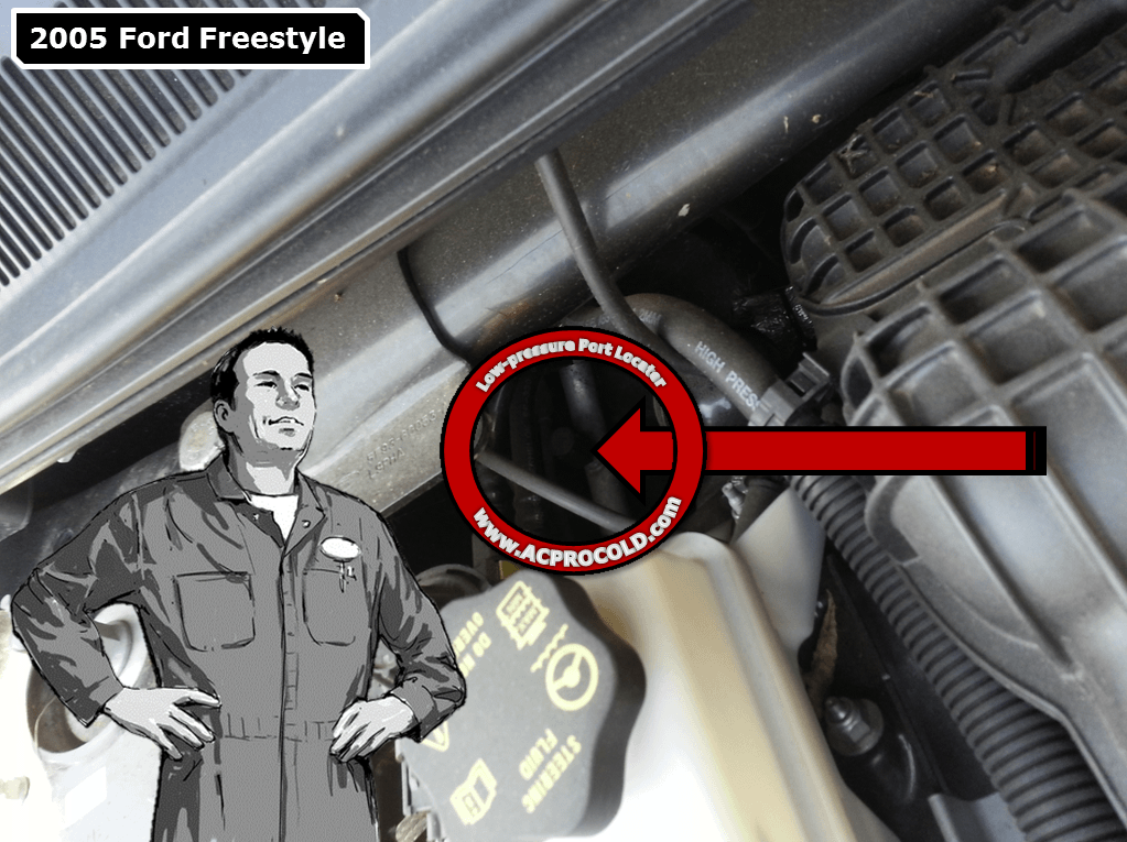 2005 Ford Freestyle Low Pressure A/C Service Port