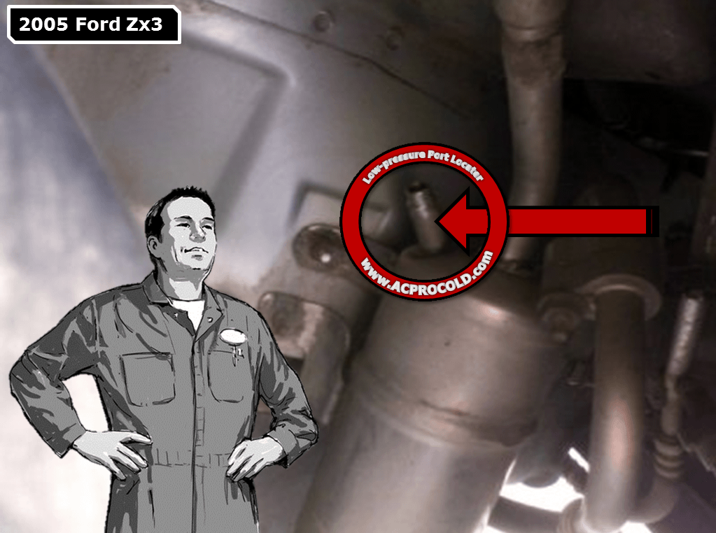 2005 Ford Zx3 A/C Low Pressure Service Port