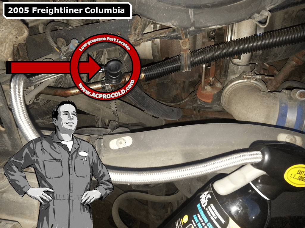 2005 Freightliner Columbia Low Pressure A/C Service Port