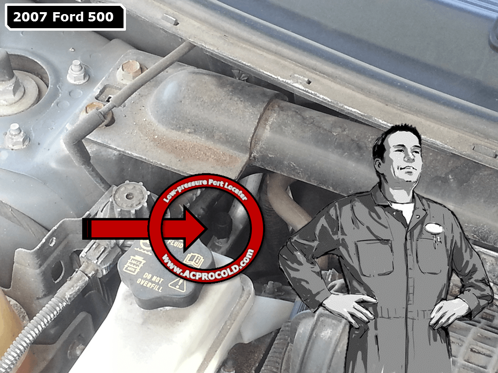 2007 Ford 500 Low Pressure Service Port