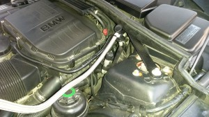 2009 BMW 135i Coupe A/C Low Pressure Service Port