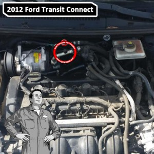 2012 Ford Transit Connect A/C Low Pressure Service Port