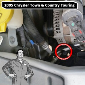 2005 Chrysler Town & Country Touring A/C Low Pressure Service Port