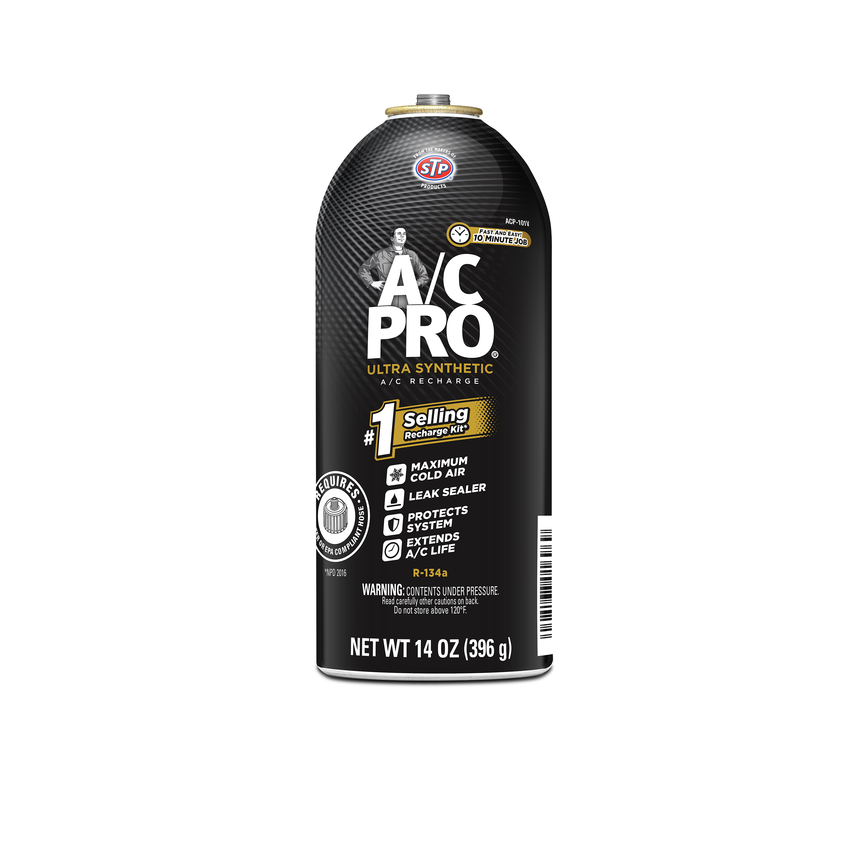 AC Pro® R-134a Refrigerant AC Recharge Large Refill