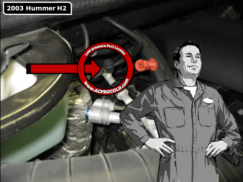 how to put refrigerant in a 2007 hummer h2