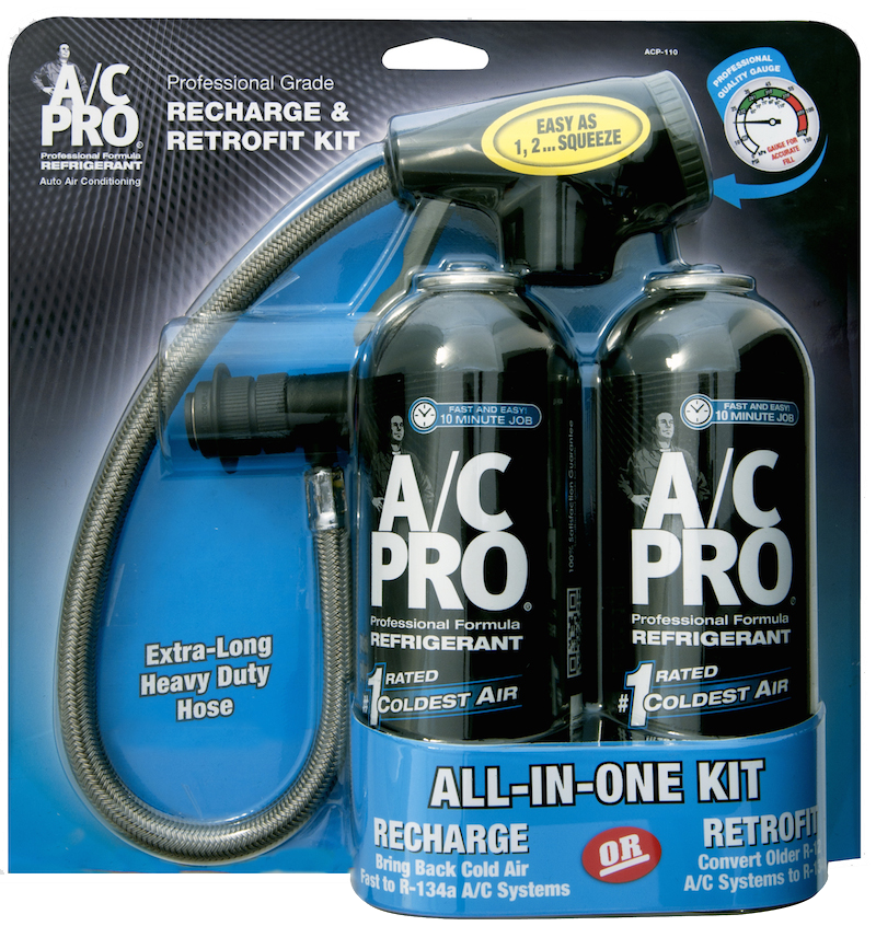 Acp 110 recharge retrofit kit on oil leak products for cars