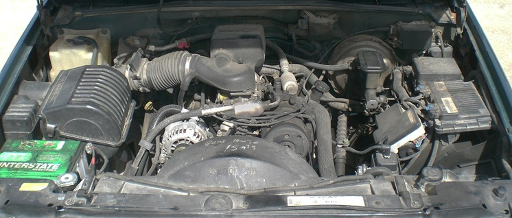 under the hood of a vehicle